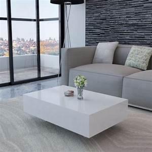 Table Basse Moderne : table basse moderne laqu e blanc cielterre commerce ~ Melissatoandfro.com Idées de Décoration