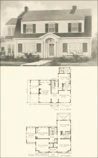 colonial homes floor plans colonial revival 1920s house plan no 3028 southern pine association