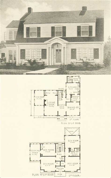 revival home plans free home plans colonial revival floor plans
