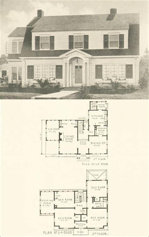 dutch colonial revival  house plan   southern pine association