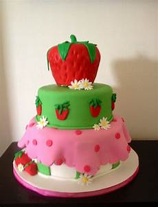 Strawberry Shortcake Themed Cake - CakeCentral.com