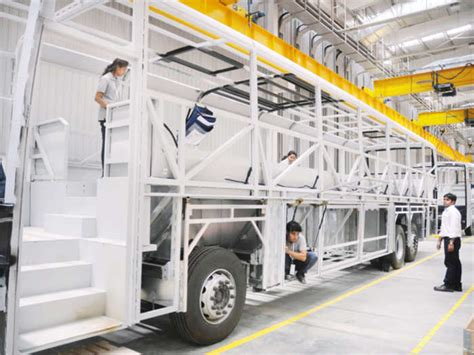sneak peek scanias bus manufacturing facility