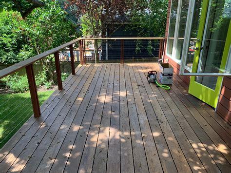 deck prep clean strip  sand  deck