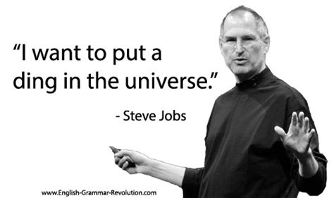 steve jobs quote sentence diagramming