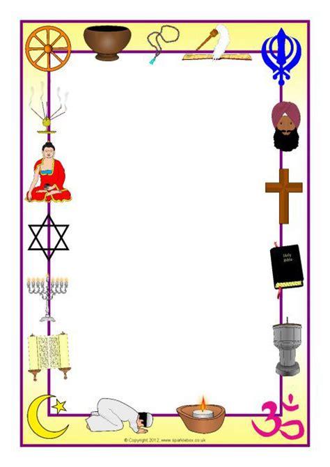 world religions  page borders sb sparklebox