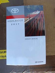 2017 Toyota Highlander Owner U0026 39 S Manual