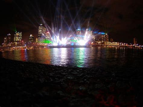 laser show laser brisbane city lights night public