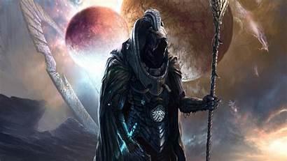 Reaper Grim Background Dark Horror Wallpapers Skull