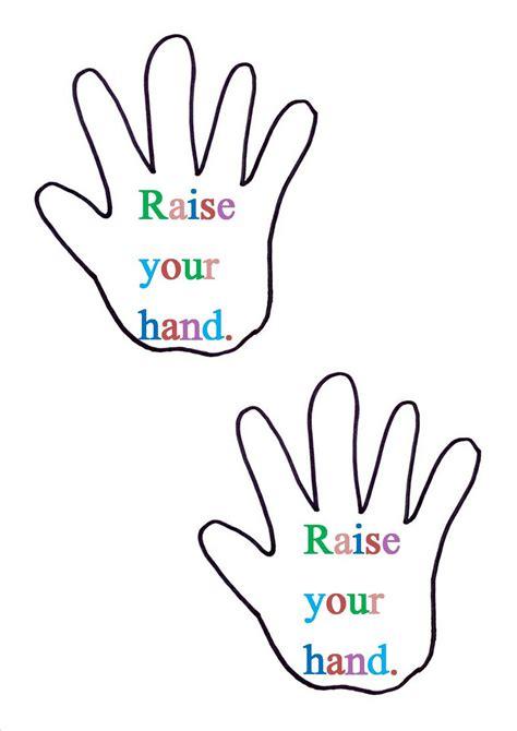 printable handprint template clipart