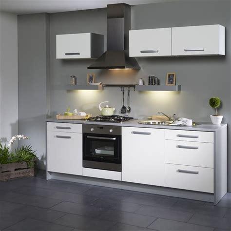 cuisine gris clair et blanc decoration cuisine blanc et grise