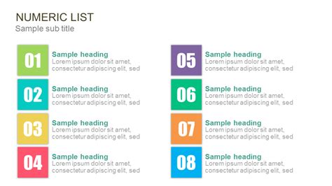 numbering list powerpoint   templates