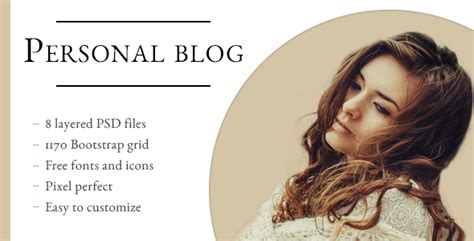 Personal Blog Psd Template By Whadevelopers