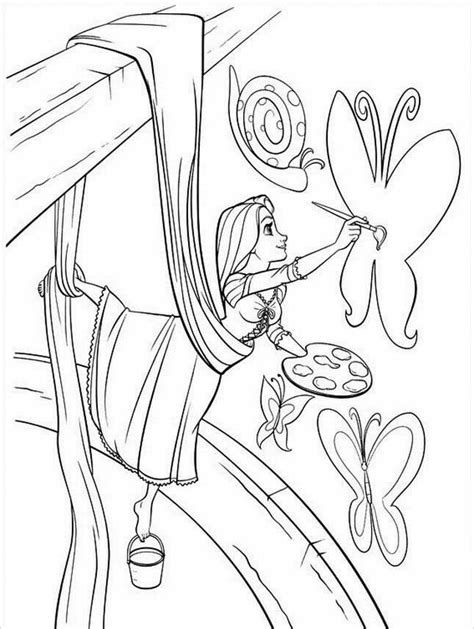 Coloring Rapunzel by Rapunzel Tangled Coloring Pages Free Printable Pictures