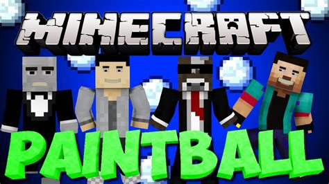 Brand New Minecraft Paintball War Server Minigame Youtube