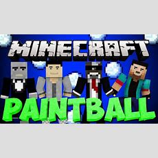 Brand New Minecraft Paintball War Server Minigame Youtube