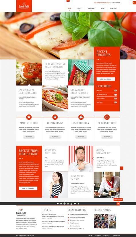 cuisine site plantilla psd gratis para una web de un restaurante