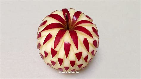 how to design fruits simple apple beautiful design intermediate lesson 2 by mutita art of fruit and vegetable