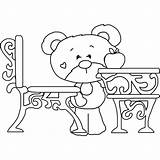 Desk Coloring Bear Timey Elementary Its Bears Ready sketch template