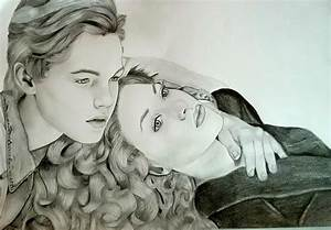 Titanic Jack and Rose portrait by Thessa-drawings on ...