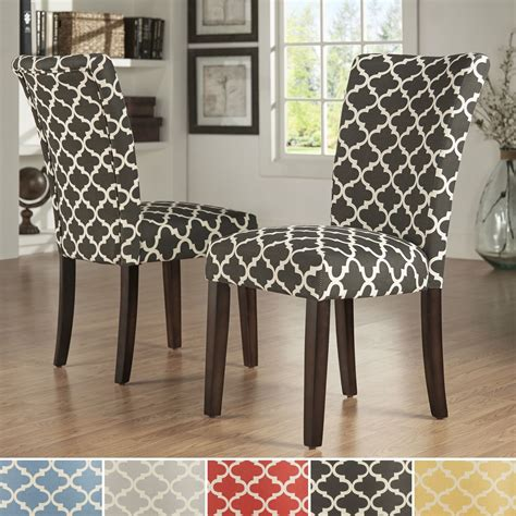 Kitchen Chair Upholstery by Inspire Q Catherine Moroccan Pattern Fabric Parsons Dining