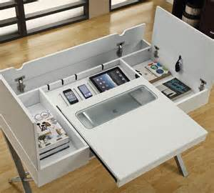Computer Desk with Compartment
