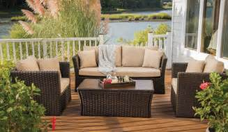 agio alden outdoor deep seating set woven wicker albertson