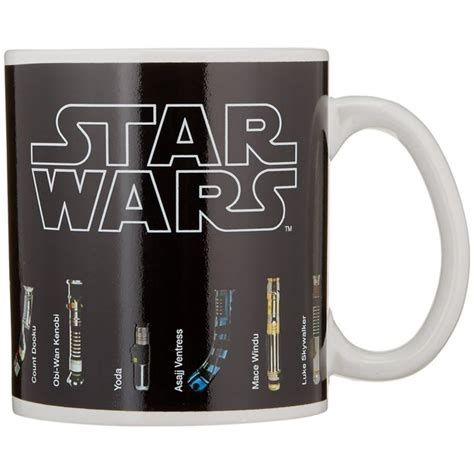 Once filled with hot coffee, however, lightsabers imagine no more! Star Wars - Thermal Heat Change Ceramic Coffee Mug / Cup ...