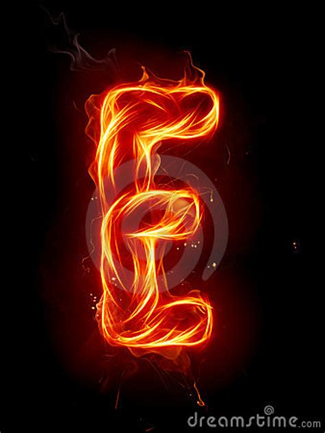 fire letter  royalty  stock image image