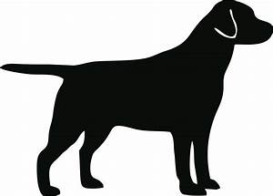 HD Dog Silhouette Clip Art Black And White Images