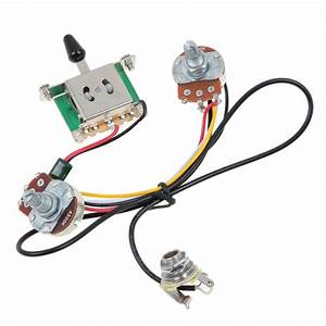 3 Way Blade Switch Two Pickup Guitar Wiring Harness 500k W