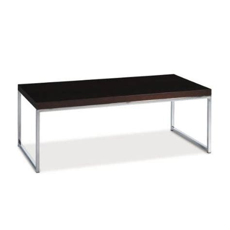 chrome coffee table legs modern coffee table in espresso finish with chrome legs