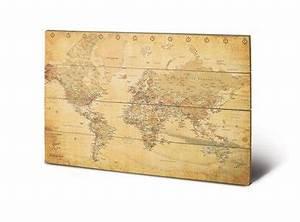Carte Du Monde En Bois : cartes d coratives cartes du monde cartes vintages ~ Nature-et-papiers.com Idées de Décoration