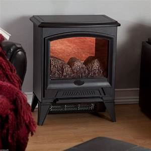 Amish Electric Stove Flame Mantle Compact Economy