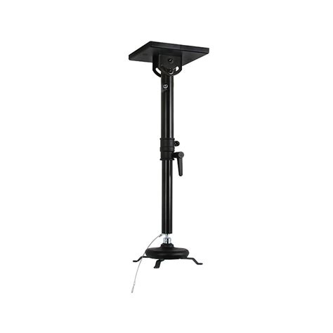Suspended Ceiling Projector Mount Uk by B Tech Projector Ceiling Mount With Medium Drop Black