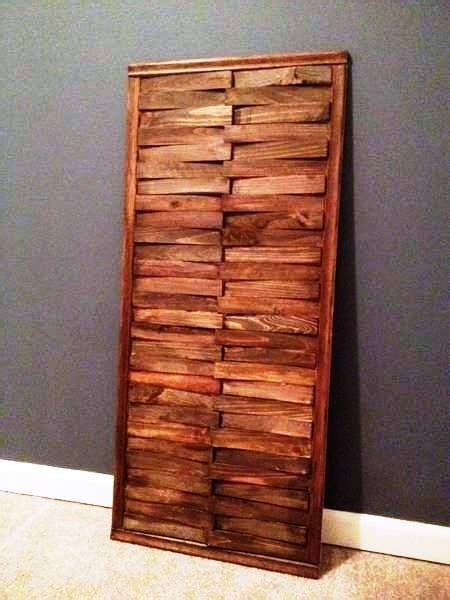 diy wall art  wood shims    horizontally