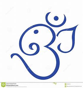 Om In Blue Royalty Free Stock Photo - Image: 3494015