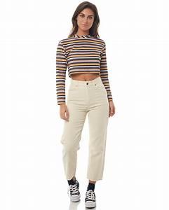 Afends Womens Shelby Cordurouy High Waist Wide Leg Jean