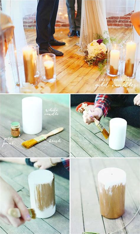 Do It Yourself Gold Candles, Possible Idea For Reception