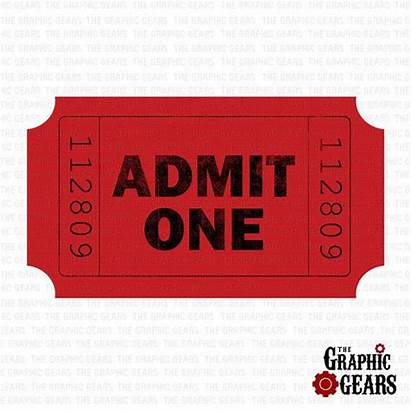 Ticket Admit Stub Clip Clipart Tickets Stubs