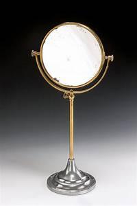 Antique, Circular, Reversable, Brass, Shaving, Mirror