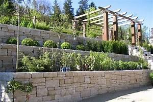 Steinmauer Im Garten : bilder von steinmauern im garten gartenmauer galabau mhler ~ Lizthompson.info Haus und Dekorationen
