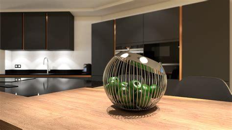 cuisiniste rouen cuisine gris anthracite bois et cuivre avec îlot design