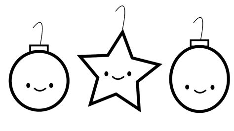 Small Christmas Ornament Coloring Pages
