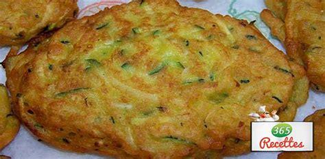 plats rapides à cuisiner recette beignets courgettes et persil facile à préparer