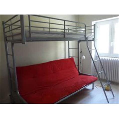 lit mezzanine avec canapé canape futon 120 cm