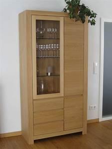 Eiche Massiv Möbel : schermbeck vitrine 2 t rig eiche massiv modern grifflos eiche buche oder kirschbaum massiv ~ Orissabook.com Haus und Dekorationen