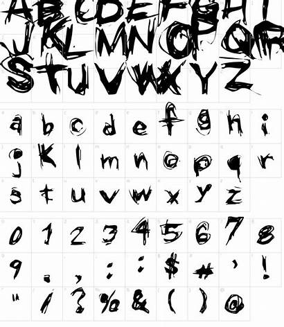 Font Grunge Fonts Characters Character Map