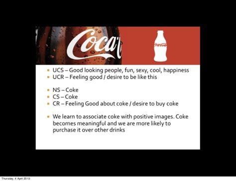 classical conditioning  advertising coca cola classical