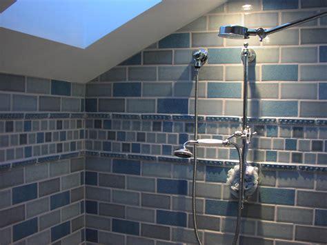 dual head shower  newly remodeled bathroom  dual