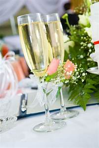 chagne glasses with flowers stock image image of